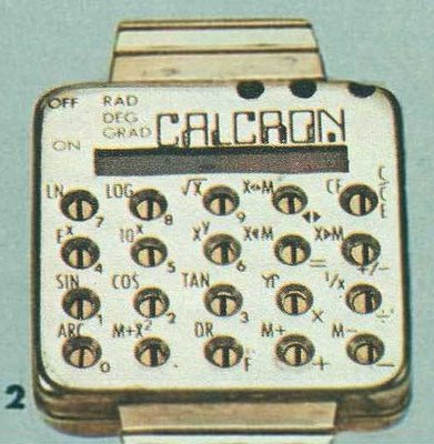 Calcron Calculator Watch, 1975
