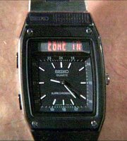 Seiko H357 Analog Digital Display with scrolling LED