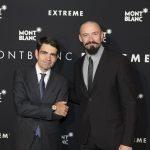 Hugh Jackman e Jérôme Lambert, CEO da Montblanc