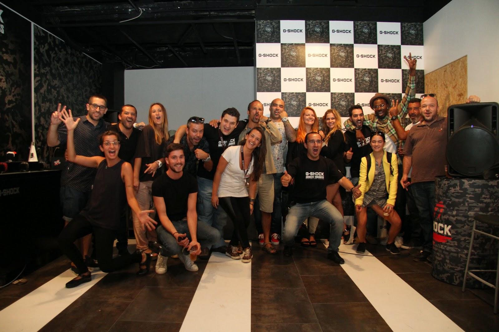 A festa de encerramento da loja Pop Up Casio, na Rua Augusta, em Lisboa