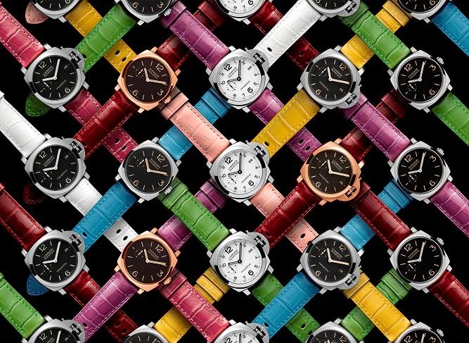 As novas cores das pulseiras da Panerai
