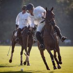 O jogo da Ladies Cup do BMW Polo Masters - Open de Gassin, St. Tropez