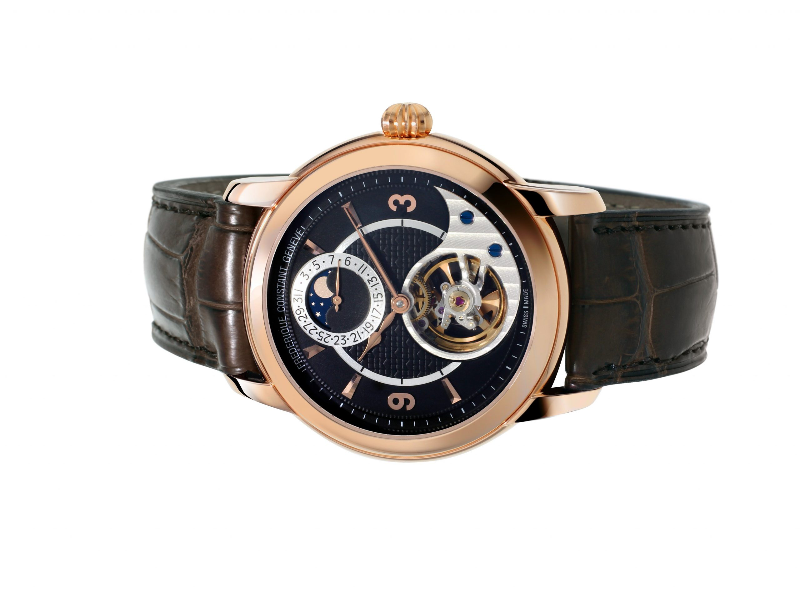Frederique Constant Heart Beat Manufacture Silicium, ouro rosa