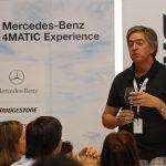 Pedro Machado, durante o Mercedes Benz 4Matic Experience