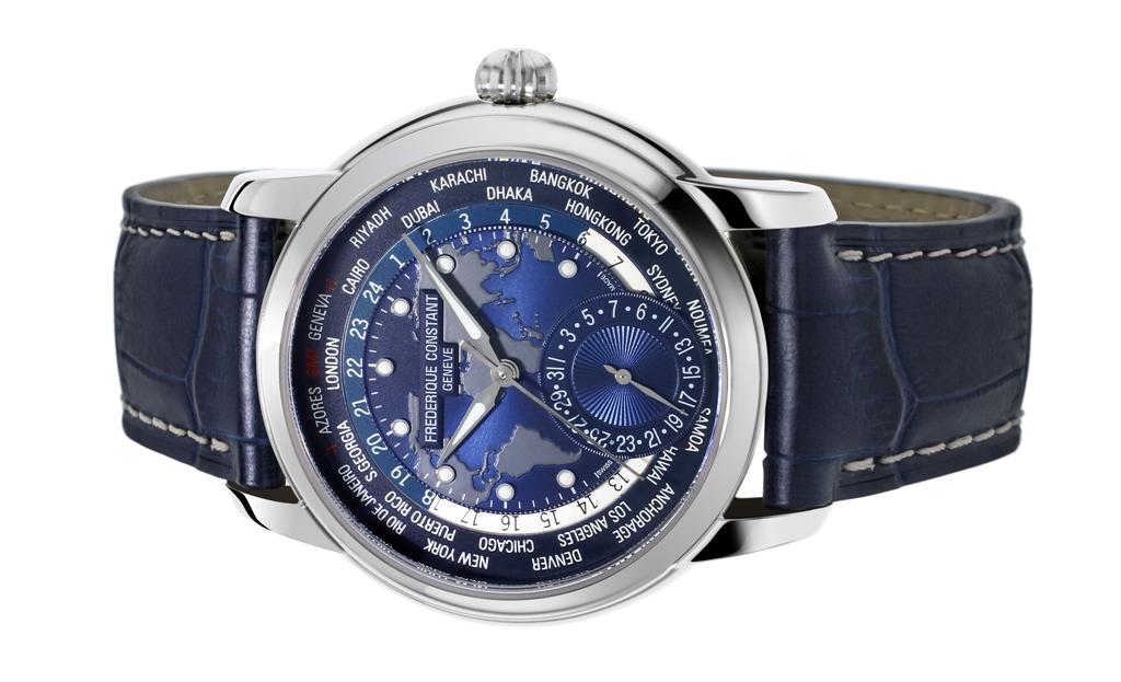 Frederique Constant apresenta novo relógio Worldtimer Navy Blue