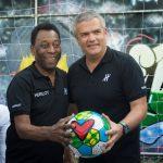 Ricardo Guadalupe, CEO da Hublot com Pelé