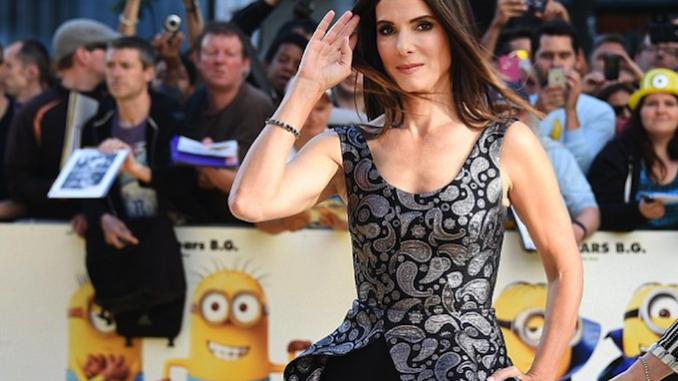 Sandra Bullock na estreia mundial de 'Minions'
