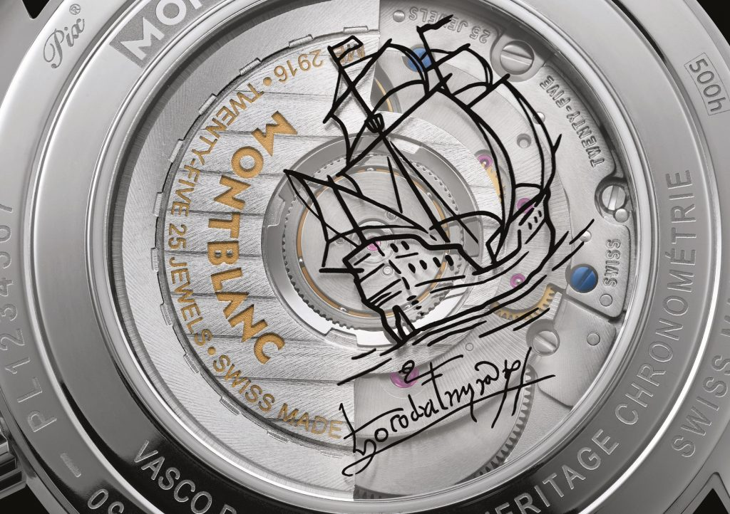 O perfume de Vasco da Gama  e as horas da Montblanc