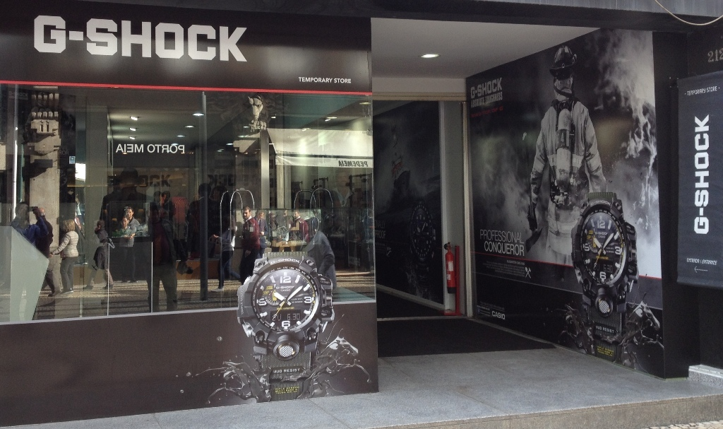 Casio abre Pop-Up Store G-Shock no Porto