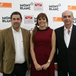 José Morgado Henriques (Administrador da Papetarget-Pap. Fernandes) Maria Alves, Jorge Leal (Dir. Comercial Papelaria Fernandes)